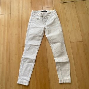 J Brand Anja white cuffed jeans size 25